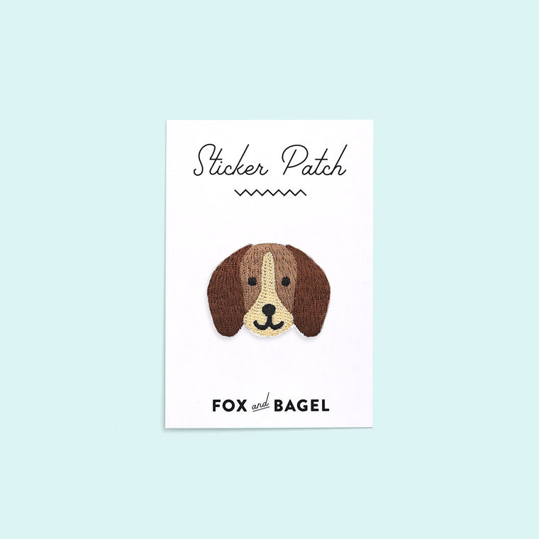 Beagle dog embroidered sticker patch by Fox & Bagel.
