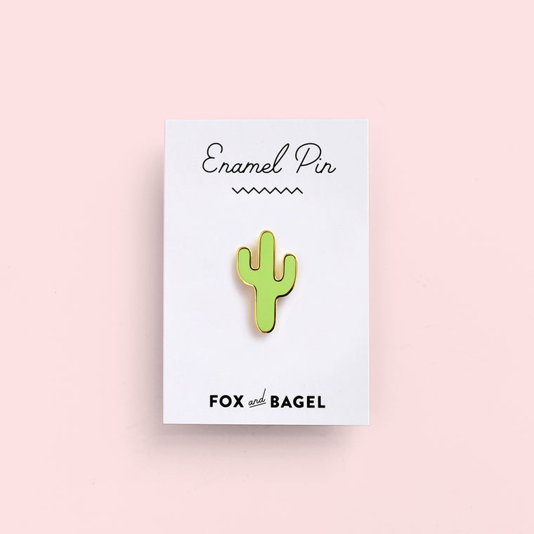 Saguaro cactus hard enamel pin by Fox & Bagel for instant desert vibes.