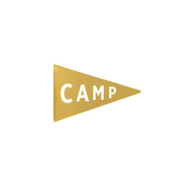 Camp Pennant Pin • Seconds