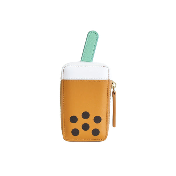 Boba Tea Leather Pouch