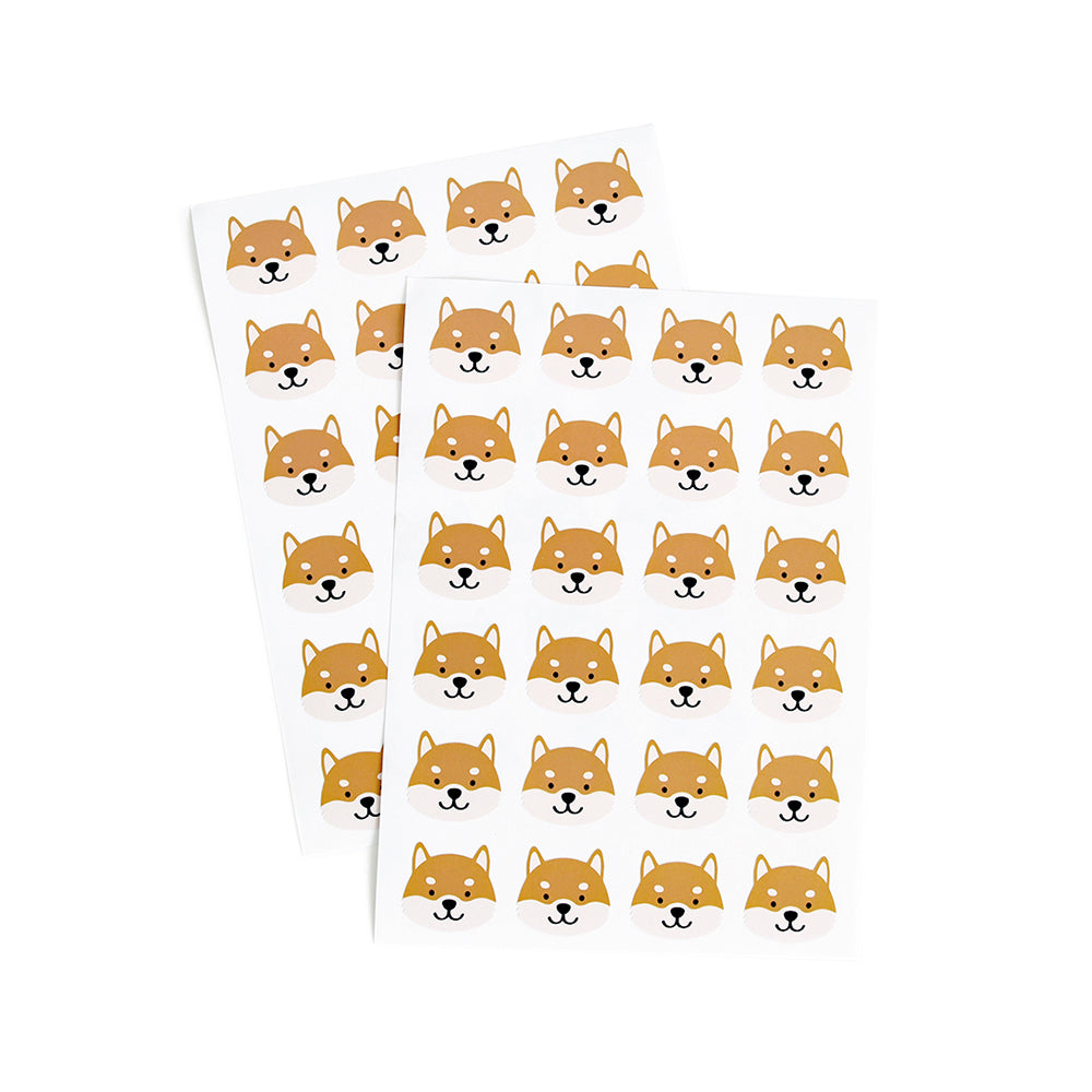 Shiba Stickers (Red)