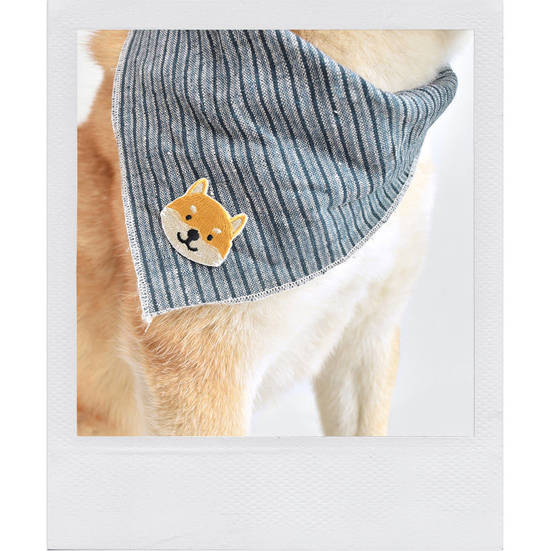 Shiba Inu Japanese dog embroidered sticker patch by Fox & Bagel.