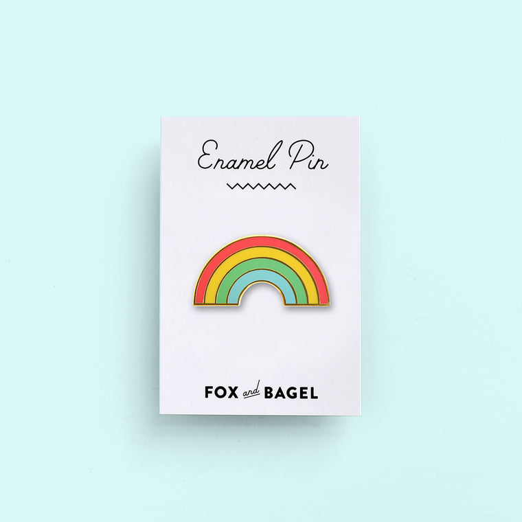 Hawaii rainbow pride hard enamel pin by Fox & Bagel.