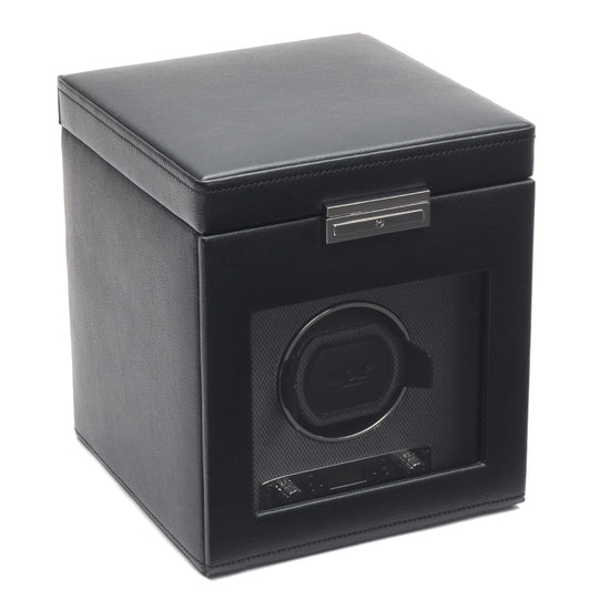 WOLF Viceroy Single Watch Winder with Storage - Black