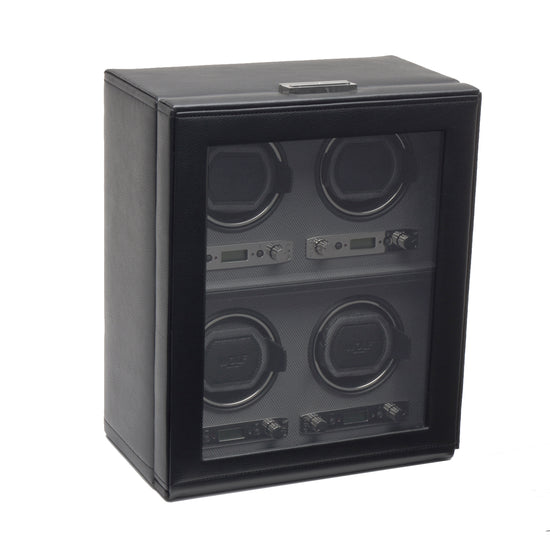 WOLF Viceroy 4 Piece Watch Winder - Black