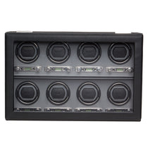 WOLF Viceroy 8 Piece Watch Winder - Black