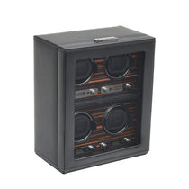 WOLF Roadster 4 Piece Watch Winder - Black