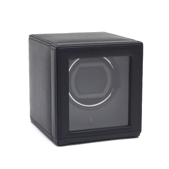 WOLF Cub Watch Winder with cover - Black