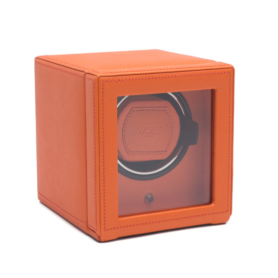 WOLF Cub Watch Winder with cover - Orange