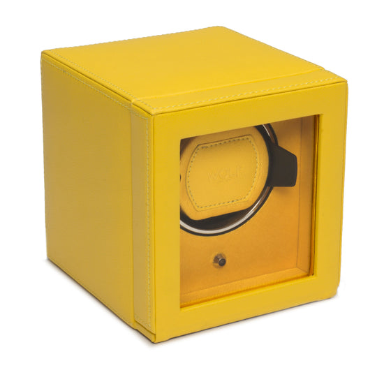 WOLF Cub Watch Winder with cover - Yellow