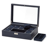 WOLF Howard Watch Box - Navy