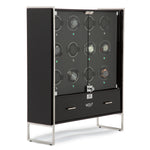 WOLF 1834 - Regent - 12 Piece Cabinet Watch Winder - Piano Black / Matte Black