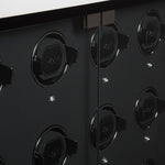 WOLF 1834 - Baron - 24 Piece Cabinet Watch Winder - Piano Black / Matte Black