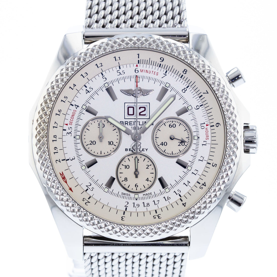 Authentic Used Breitling Bentley 6 75 Speed A44364 Watch 10 10 Brt Vbstx3