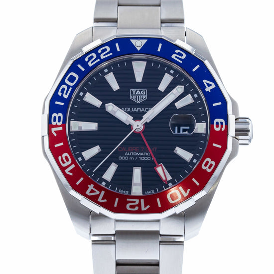 TAG Heuer Aquaracer Calibre 7 Twin-Time Pepsi WAY201F