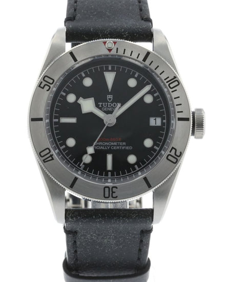 Tudor Heritage Black Bay Stainless Steel on Leather 79730