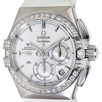 Omega Constellation Double Eagle Co-Axial Chronograph Ladies White Rubber 121.17.35.50.05.001