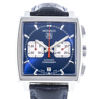 11115e741fe7b Authentic Used TAG Heuer Monaco Steve McQueen Chronograph CW2113 ...