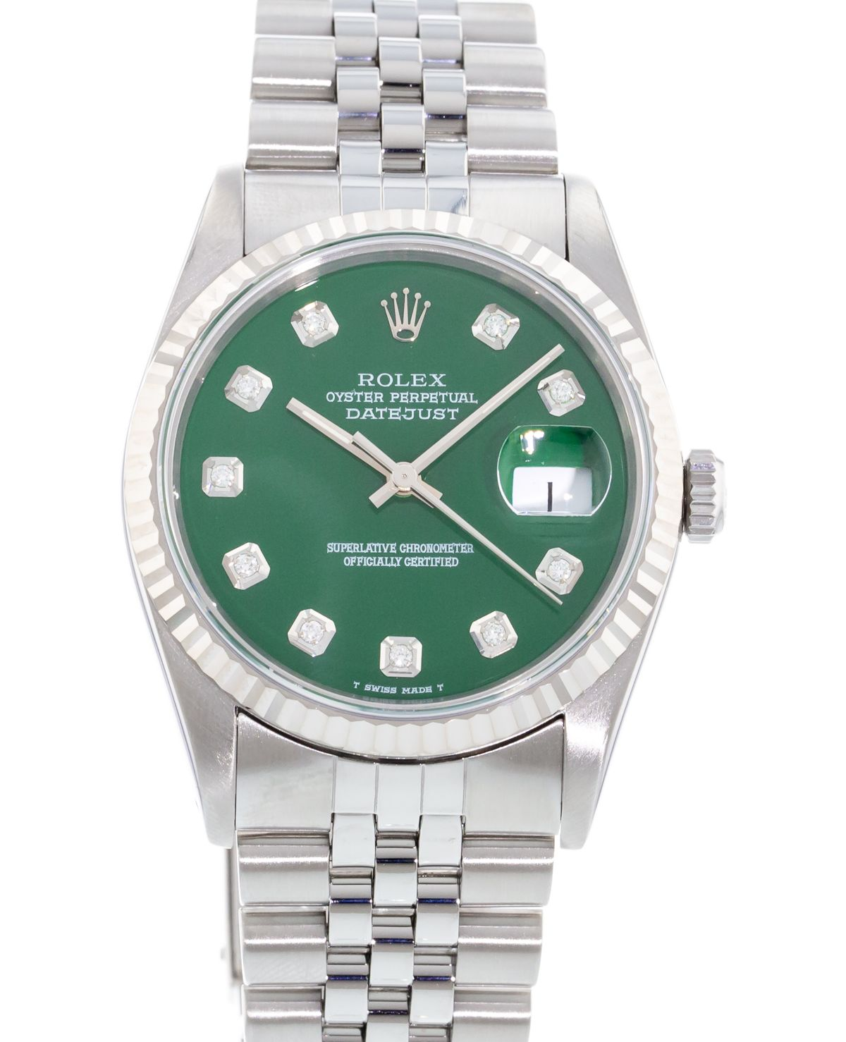 de07dd9c165 Authentic Used Rolex Oyster Perpetual Datejust 16234 Watch (10-10 ...