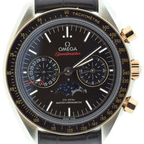 Omega Speedmaster Moonphase Chronograph Master Chronometer Two Tone Sedna / Brown 304.23.44.52.13.001