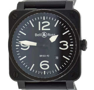 f05d16f166c Authentic Used Bell   Ross Aviation BR-0392 Watch (10-20-BLR-KTPG3U)