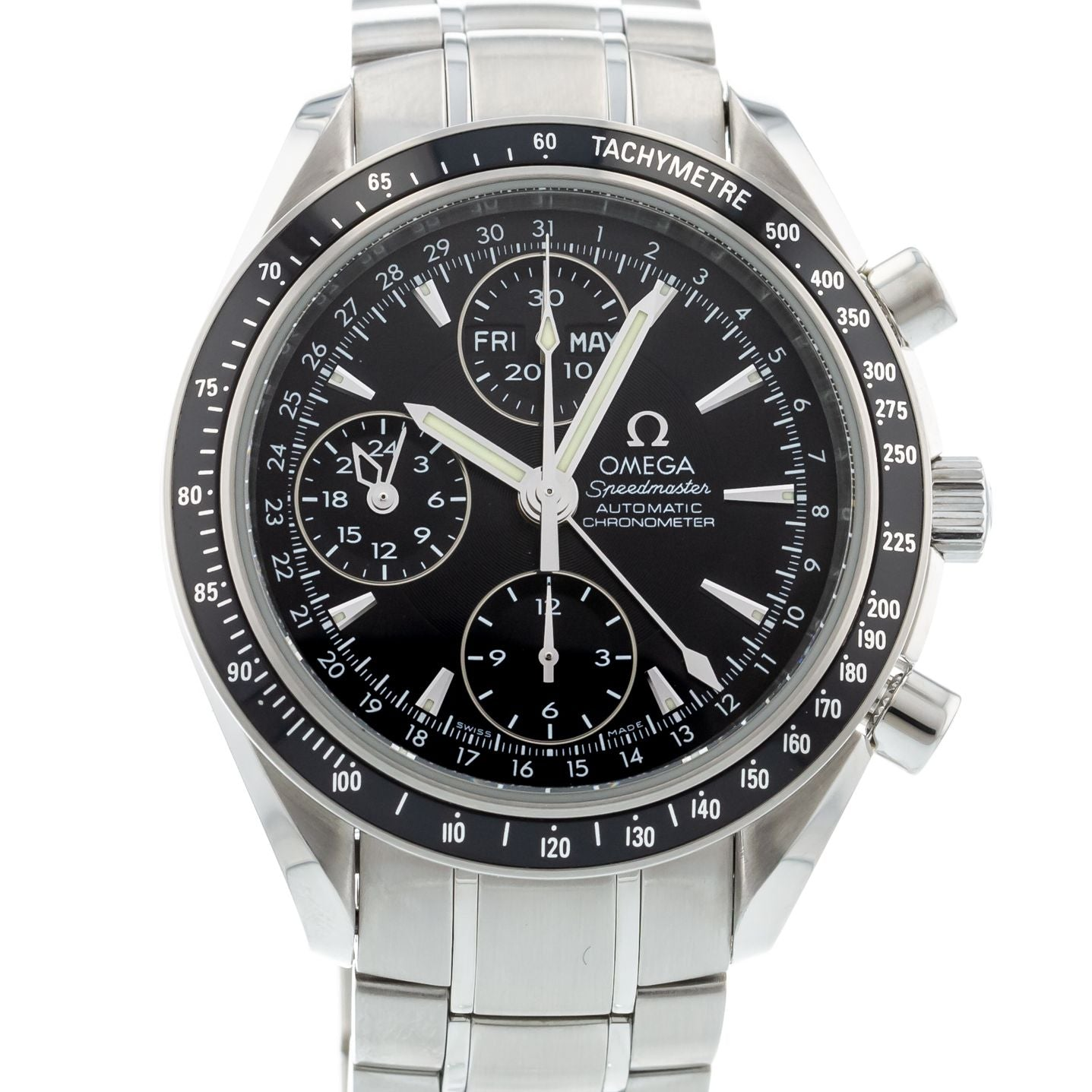 d5dd98462 Authentic Used OMEGA Speedmaster Day-Date 3220.50.00 Watch (10-10 ...