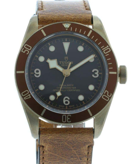Tudor Heritage Black Bay Bronze on Leather 79250BM