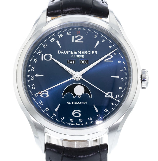 Baume & Mercier Clifton Blue Dial Moonphase 10057