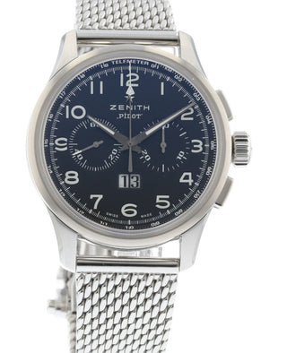 44f73febd19 Authentic Used Zenith Pilot Big Date Automatic Chronograph 03.2410 ...