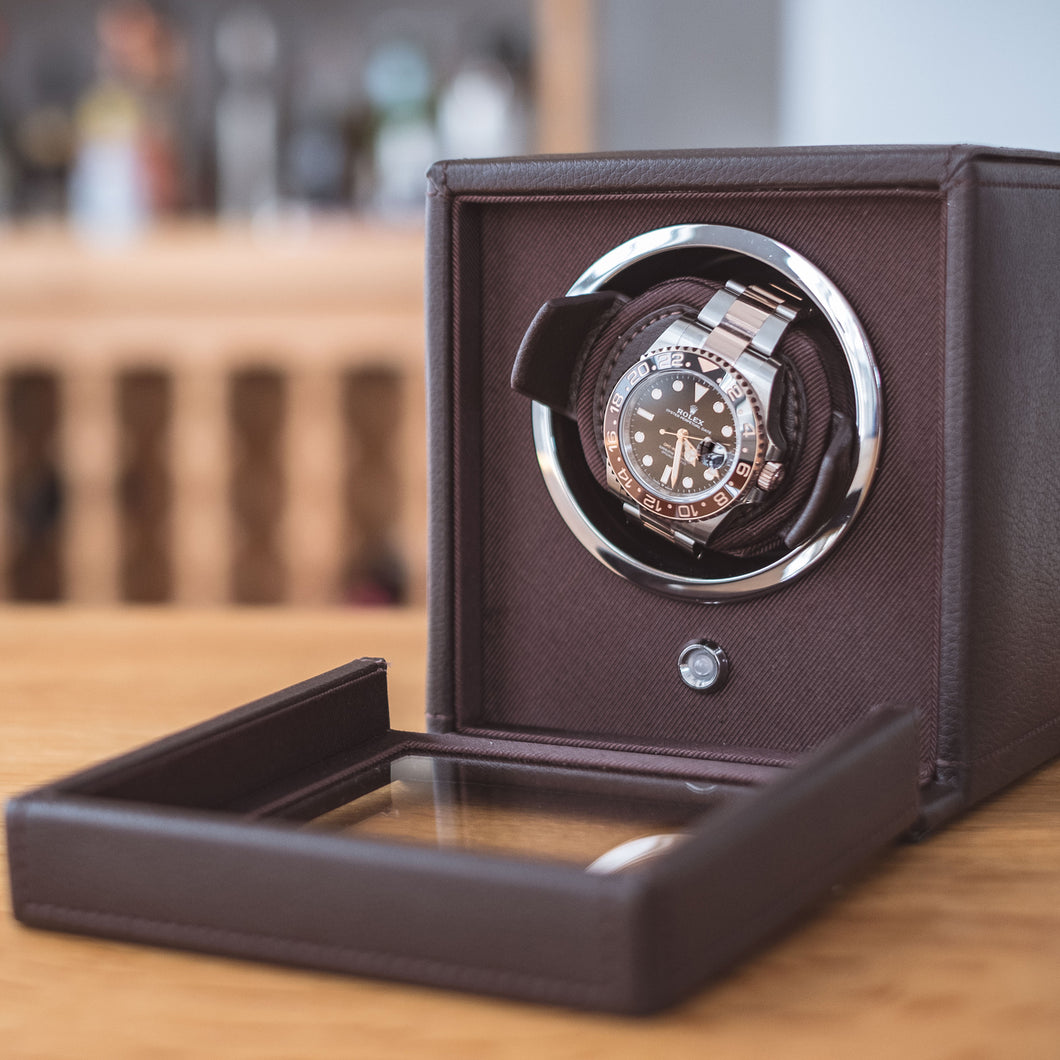 1f3fe3423a8 WOLF Cub Watch Winder with Cover - Black (20-10-461103)