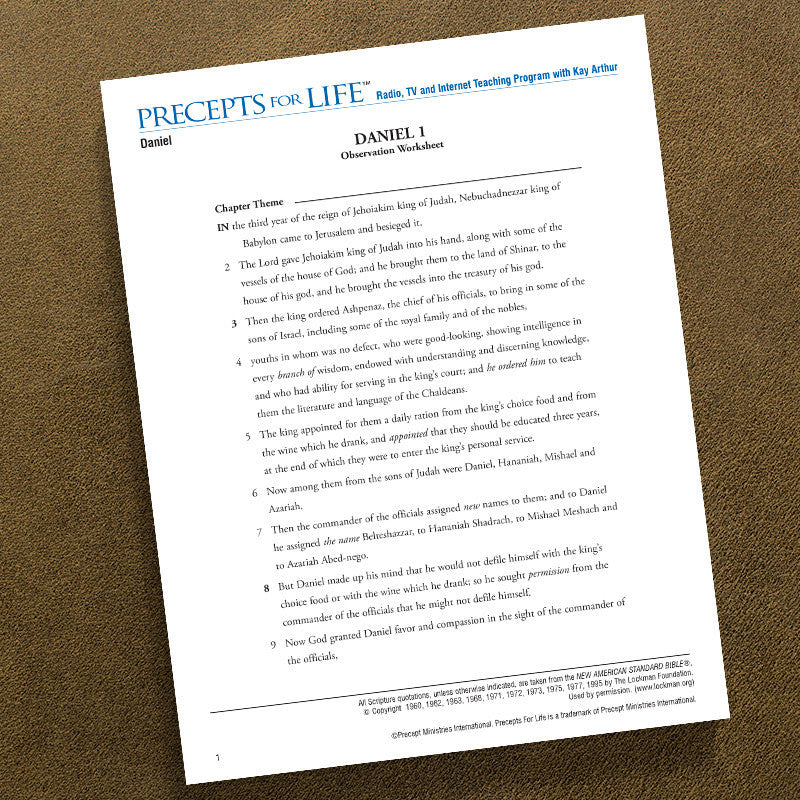 Daniel-Ows-Precepts For Life Study Guide-Download