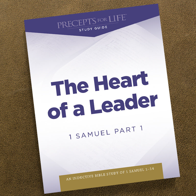 1 Samuel Part 1-Pdf-Precepts For Life Study Guide-Download