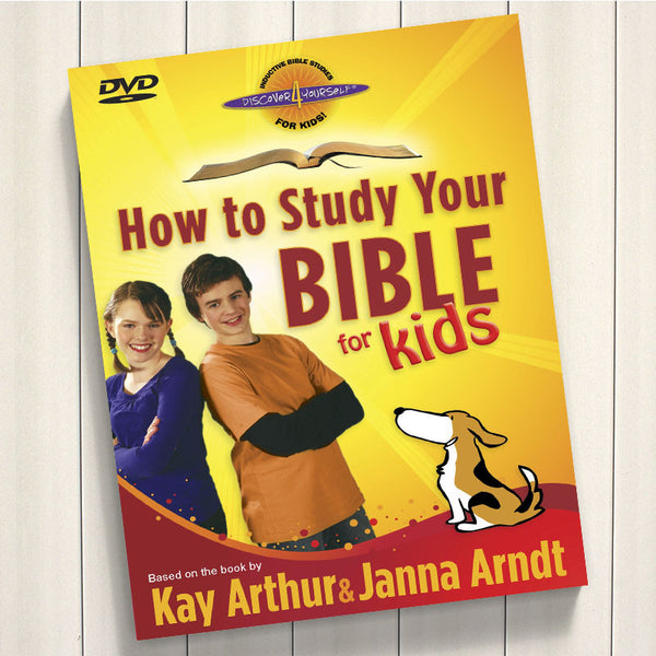 How to Study Your Bible For Kids-Dvd-D4y