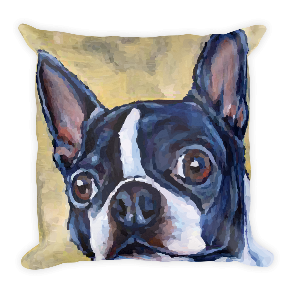 Boston Terrier Square Pillow