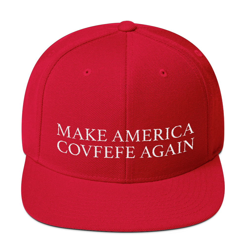 MAKE AMERICA COVFEFE AGAIN Wool Blend Snapback
