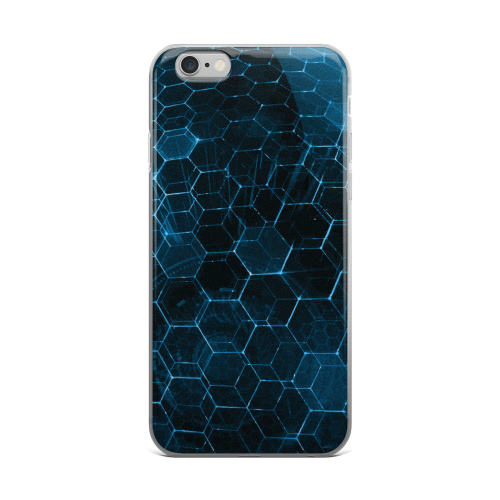 Techno Hexagon iPhone i phone Cases