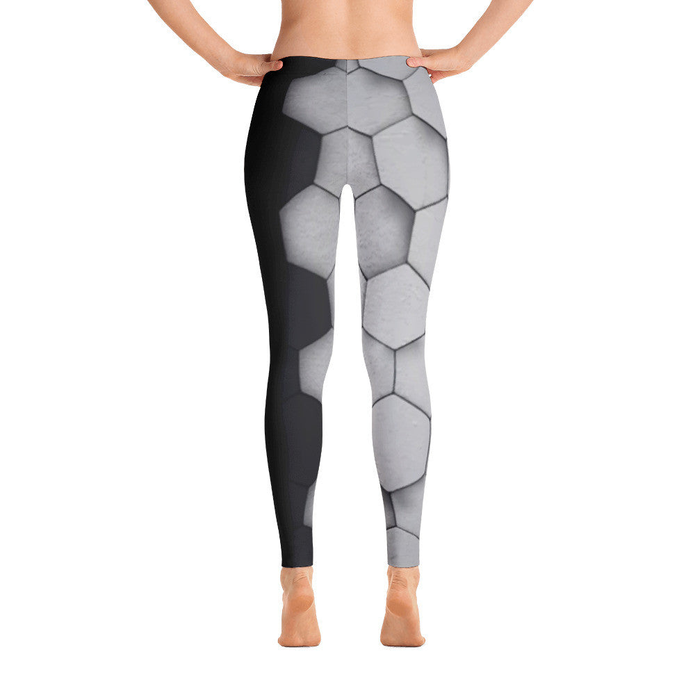 Metallic Hexagonal Leggings