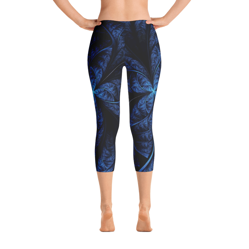 Blu Spiral Capri Leggings