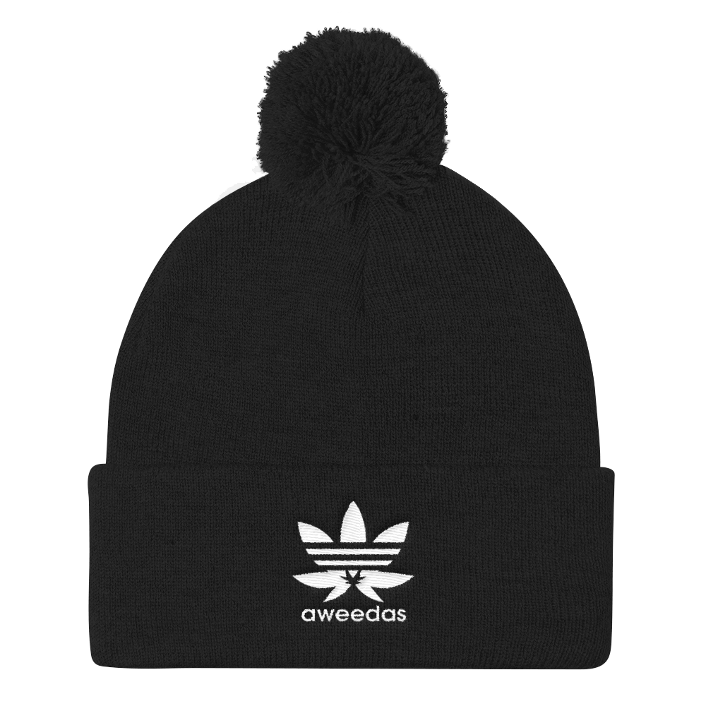 "Top Shelf ""Aweedas"" Pom Pom Knit Cap"
