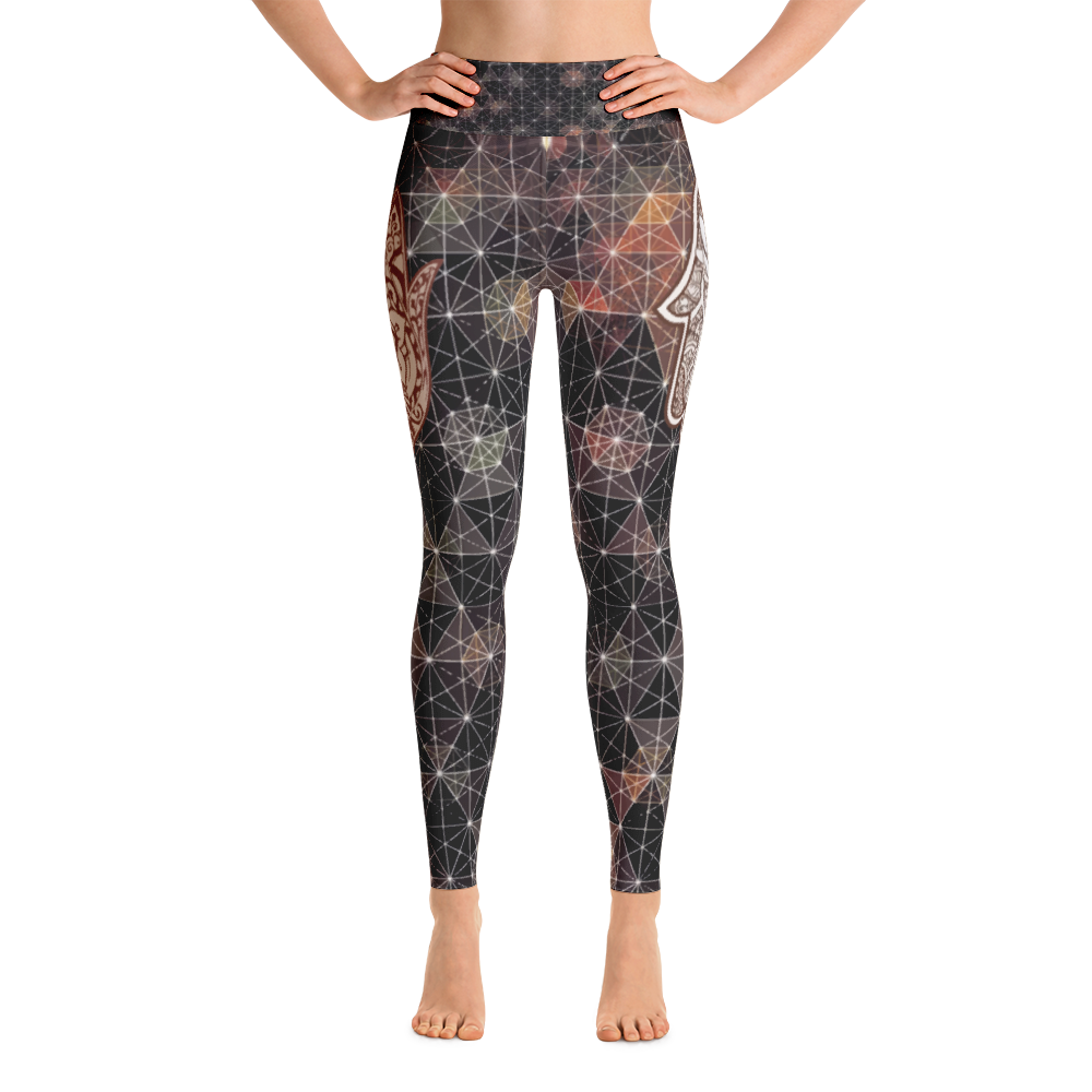 Hamsa and Lotus Yoga Leggings