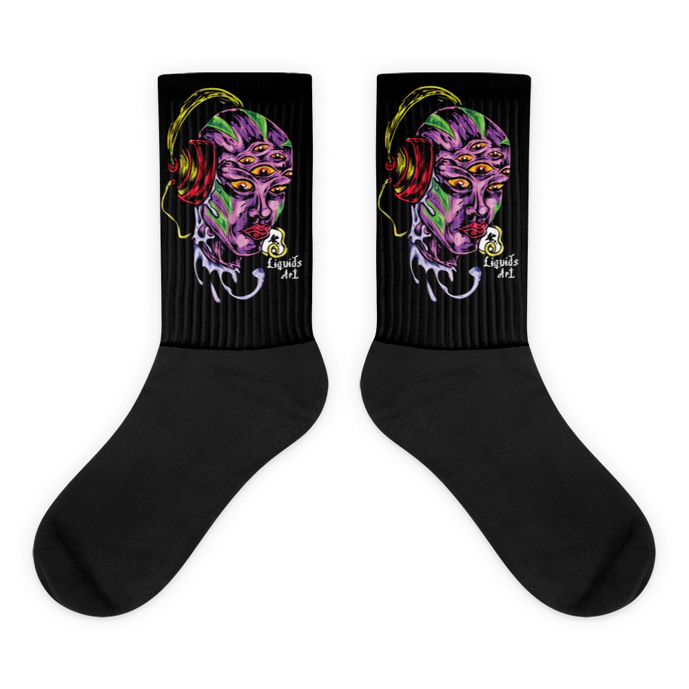 Liquids Art Black Socks
