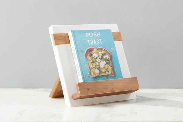 New White Mod iPad/ Cookbook Holder