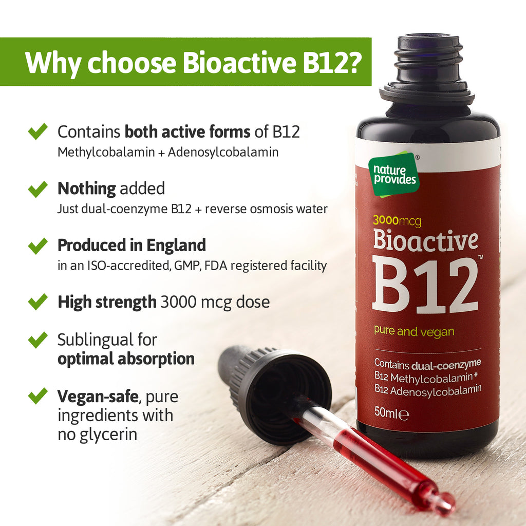 Bioactive Liquid Vitamin B12 (2400mcg)