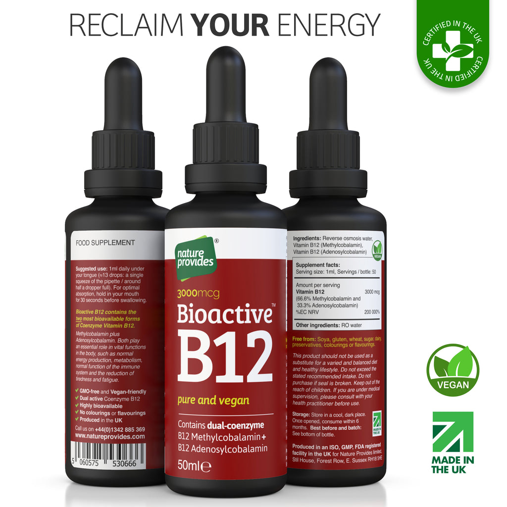 Bioactive Liquid Vitamin B12 (2400mcg) - 50ml