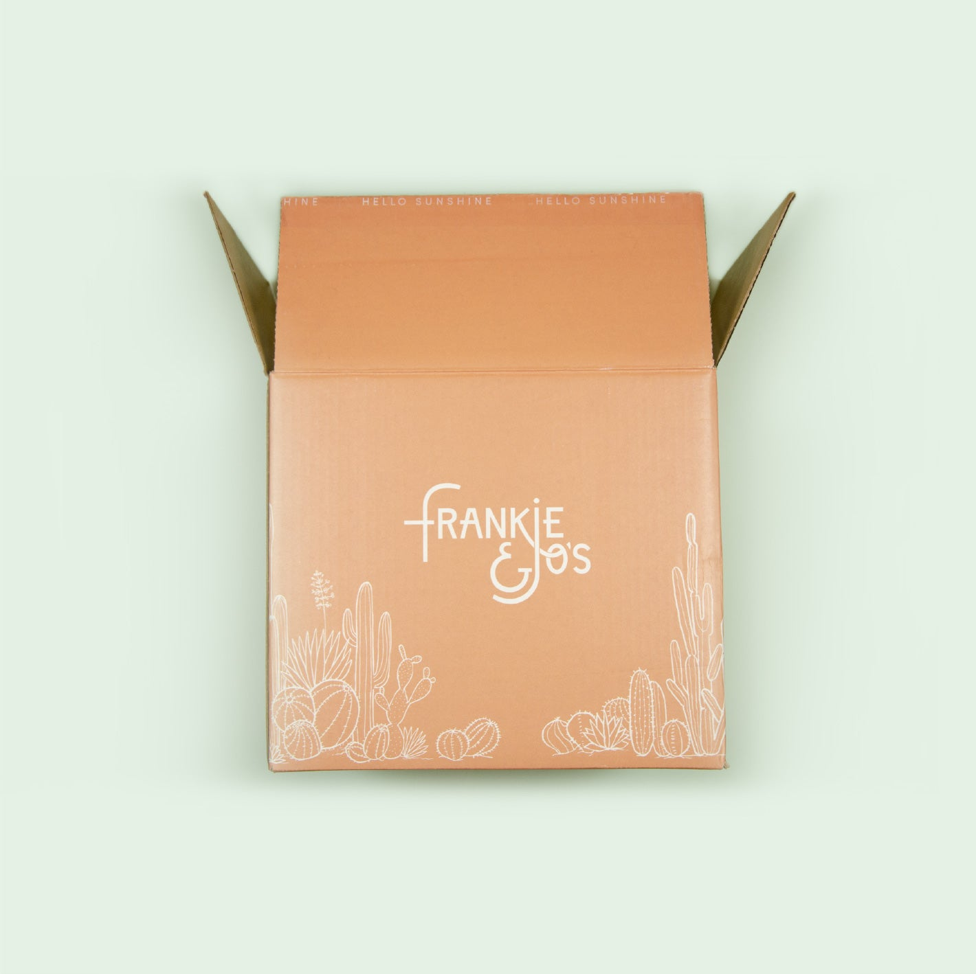 Your hello sunshine box arrives at your doorstep by the first Wednesday of each month.