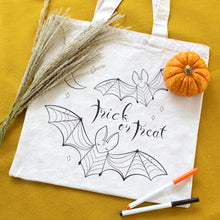 Bats Trick or Treat Organic Coloring Kit Tote