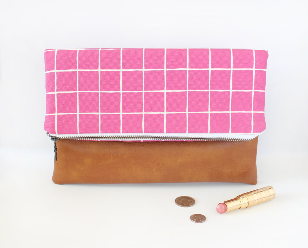 Boysenberry Foldover Clutch