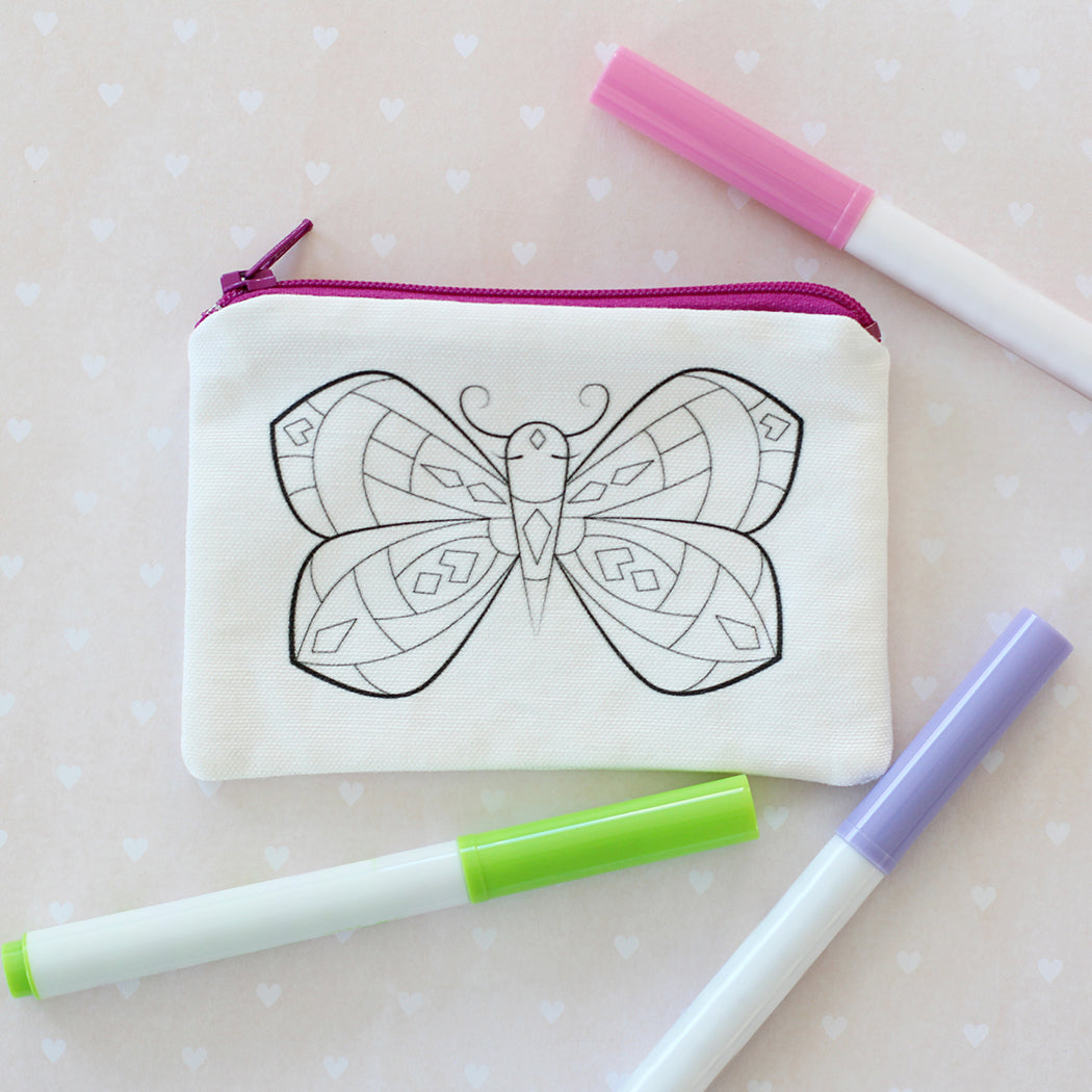 Butterfly Coloring Kit Coin Purse