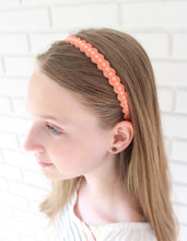 "Coral ""Skinny"" Wool Felt Embroidered Headband"