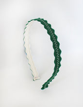 "Emerald ""Skinny"" Wool Felt Embroidered Headband"
